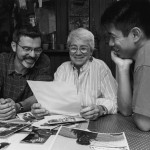 Allan Berube, Sarah Davis, Arthur Dong. Photo by Zand Gee