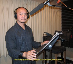 Cambodia genocide survivor Jonathan Dok provides voice-overs. Photo by Arthur Dong, copyright 2014 DeepFocus Productions, Inc.