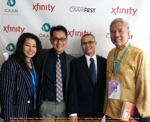 On the red carpet at the Castro Theater, San Francisco, l-r: Sophia Ngor, Arthur Dong, Wayne Ngor, Jack Ong. Photo by Young Gee, ©2015.