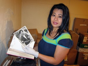 Sophia Ngor at Ngor archives; photo by Arthur Dong
