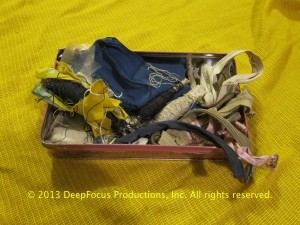 Dr. Ngor's Sewing kit, an item from The Dr. Haing S. Ngor Archive. © 2013 DeepFocus Productions, Inc., photo by Arthur Dong.