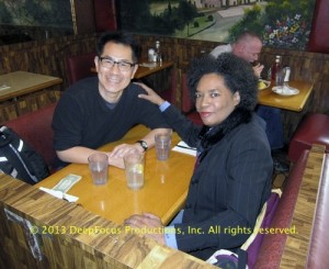 The Killing Fields casting director, Pat Golden, and Arthur Dong.  © 2013 DeepFocus Productions, Inc.
