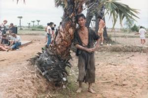 Ngor on The Killing Field set; courtesy Dr Haing S. Ngor Fdn